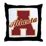 Atlanta Letter Throw Pillow