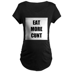 Eat More Maternity Dark T-Shirt