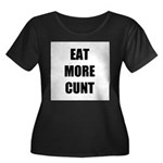 Eat More Women's Plus Size Scoop Neck Dark T-Shirt
