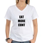 Eat More Women's V-Neck T-Shirt
