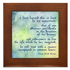 Inspirational Thoreau Quote Framed Tile