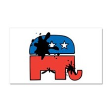Republican Mudslinging Car Magnet 20 x 12