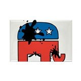 Republican Mudslinging Rectangle Magnet (100 pack)
