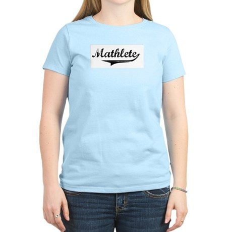 Mathlete Women's Pink T-Shirt