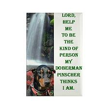 Lord Help Me -RecMag -Doberman,BlkRstNat Magnets