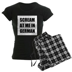 Scream at me in German Women's Dark Pajamas
