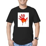 hand_white_bg.png Men's Fitted T-Shirt (dark)