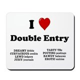Rude Accountant Gift - Double Entry Mousepad