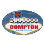 compton.png Sticker (Oval 50 pk)