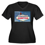 compton.png Women's Plus Size V-Neck Dark T-Shirt