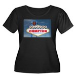 compton.png Women's Plus Size Scoop Neck Dark T-Sh
