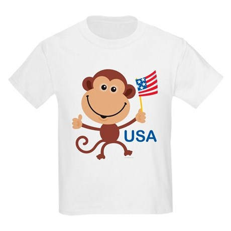 USA Monkey: Kids T-Shirt