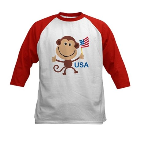 USA Monkey: Kids Baseball Jersey