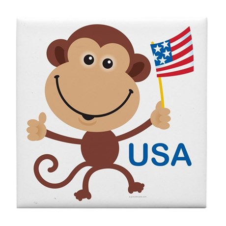 USA Monkey: Tile Coaster