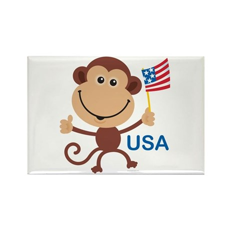 USA Monkey: Rectangle Magnet