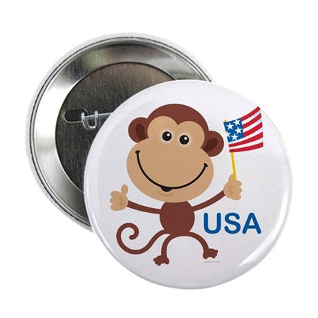 "USA Monkey: 2.25"" Button (10 pack)"