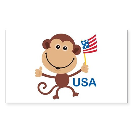USA Monkey: Rectangle Sticker