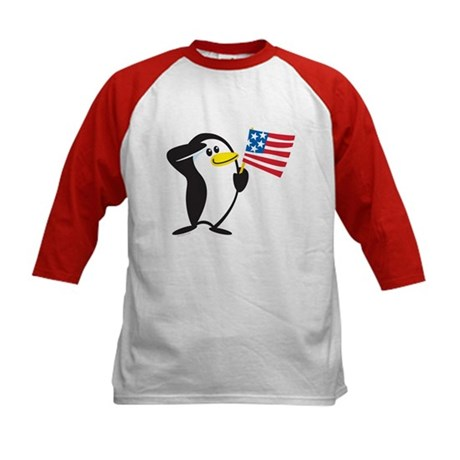Proud Penguin: Kids Baseball Jersey