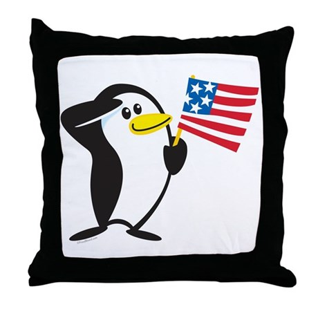 Proud Penguin: Throw Pillow