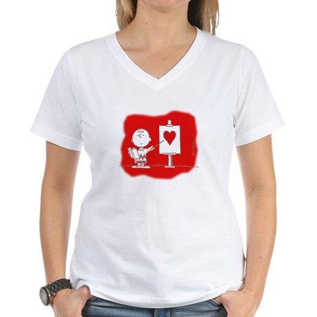 Lessons in Love Women's V-Neck T-Shirt