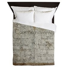 Ten Commandments 10 Laws Desi Queen Duvet