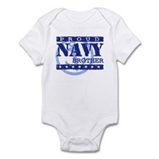 Proud Navy Brother Infant Bodysuit
