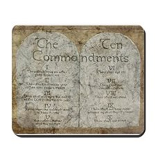 Ten Commandments 10 Laws Desi Mousepad