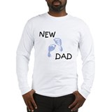 New Dad BLUE Long Sleeve T-Shirt