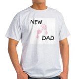 New Dad PINK Ash Grey T-Shirt