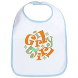 Girly girl Japanese pattern Bib