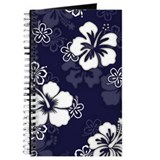 """Hibiscus Pattern"" (Navy) Journal"