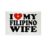 I Love my Filipino Wife Rectangle Magnet