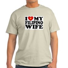 I Love my Filipino Wife Ash Grey T-Shirt
