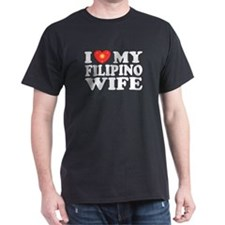 I Love my Filipino Wife Black T-Shirt