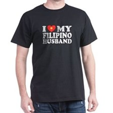 I Love my Filipino Husband Black T-Shirt