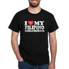 I Love my Filipino Girlfriend Black T-Shirt
