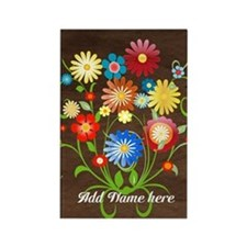 Personalized floral Rectangle Magnet