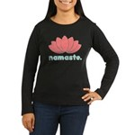Namaste Lotus Women's Long Sleeve Dark T-Shirt