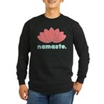 Namaste Lotus Long Sleeve Dark T-Shirt
