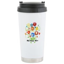 Personalized floral light Travel Mug