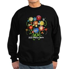 Personalized floral dark Sweatshirt