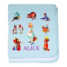 Alice In Wonderland baby blanket