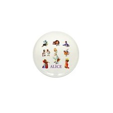 Alice In Wonderland Mini Button (10 pack)