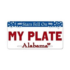 Alabama Stars Custom License Plate