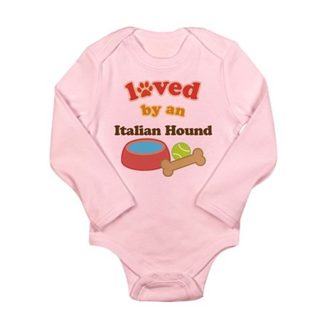 Italian Hound Dog Gift Long Sleeve Infant Bodysuit