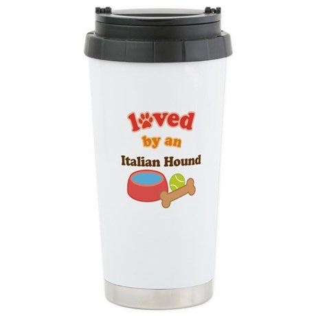 Italian Hound Dog Gift Ceramic Travel Mug