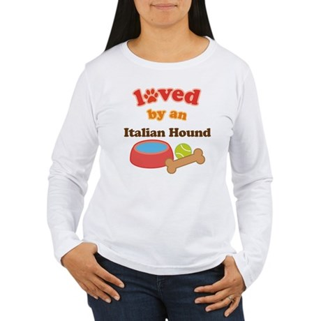 Italian Hound Dog Gift Women's Long Sleeve T-Shirt