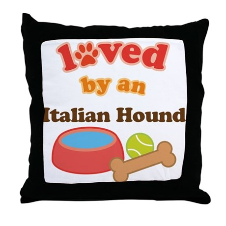 Italian Hound Dog Gift Throw Pillow
