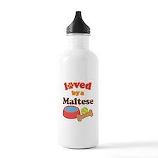 Maltese Dog Gift Water Bottle