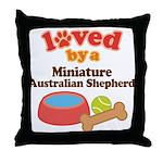 Miniature Australian Shepherd Dog Gift Throw Pillo